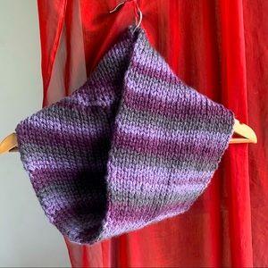 lavender handmade knitted infinity shrug